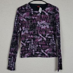 NWT French connection interesting shirt size large